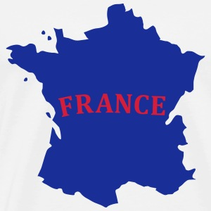 Karte Frankreich, France Map Hoodies & Sweatshirts - Men's Premium T-Shirt