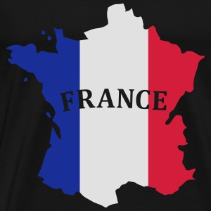 Karte Frankreich, France Map, Flag Map France Long sleeve shirts - Men's Premium T-Shirt