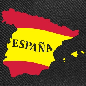 Karte Spanien, Spain, Map, Flag Map Spain Tröjor - Snapbackkeps