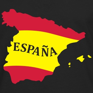 Karte Spanien, Spain, Map, Flag Map Spain T-shirts - Mannen Premium shirt met lange mouwen