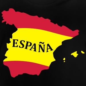 Karte Spanien, Spain, Map, Flag Map Spain Tee shirts - T-shirt Bébé