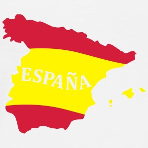 Karte Spanien, Spain, Map, Flag Map Spain Tazze & Accessori - Maglietta Premium da uomo