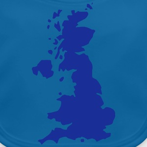 Karte UK, UK Map T-shirts - Ekologisk babyhaklapp