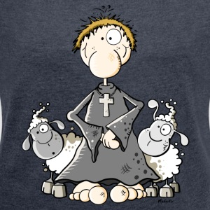 Pastor with sheep Hoodies & Sweatshirts - Women's T-shirt with rolled up sleeves