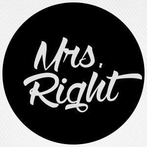 Mrs. Right T-Shirts - Baseballkappe