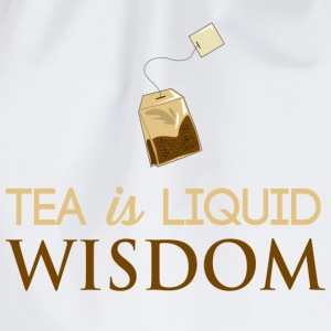 Tea Is Liquid Wisdom T-Shirts - Drawstring Bag