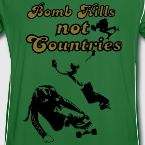 Bomb Hills not Countries Longboarding  for Peace Pullover & Hoodies - Männer Fußball-Trikot