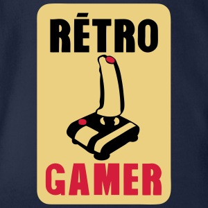 retro gamer Joystick altes Logo T-Shirts - Baby Bio-Kurzarm-Body