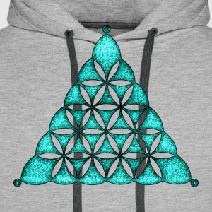 Flower Of Life, Sacred Geometry, Crop Circle,  T-S - Männer Premium Hoodie