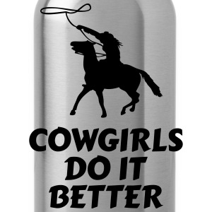 Cowgirls do it better Long Sleeve Shirts - Water Bottle