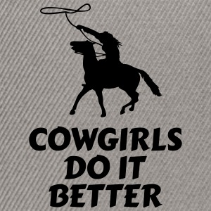 Cowgirls do it better vaqueras hacen mejor Bolsas y mochilas - Gorra Snapback