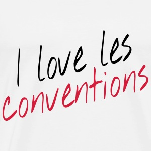 I love les conventions Sweats - T-shirt Premium Homme