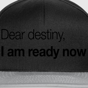 Dear Destiny, I Am Ready Now T-Shirts - Snapback Cap