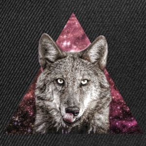 Hipster Galaxy Wolf Tee shirts - Casquette snapback