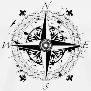 wind rose grunge style Other - Men's Premium T-Shirt