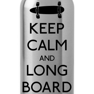 Keep Calm Longboard kalm longboard houden Tops - Drinkfles