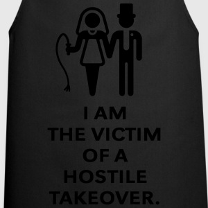 Victim Of Hostile Takeover (Bachelor Party / Groom T-Shirts - Cooking Apron
