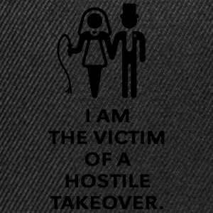 Victim Of Hostile Takeover (Bachelor Party / Groom T-Shirts - Snapback Cap