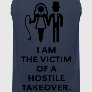 Victim Of Hostile Takeover (Bachelor Party / Groom T-Shirts - Men's Premium Tank Top