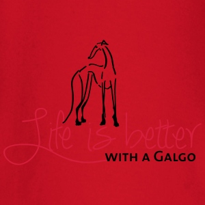 Life is better Galgo T-Shirts - Baby Langarmshirt