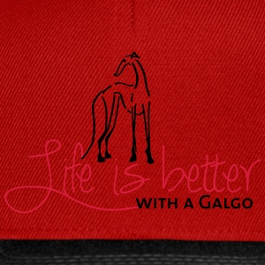 Life is better Galgo T-Shirts - Snapback Cap