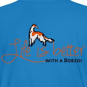 Life is better - Borzoi Hoodies & Sweatshirts - Men's Organic T-shirt