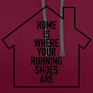 Home Is Where Your Running Shoes Are Torby i plecaki - Bluza z kapturem z kontrastowymi elementami