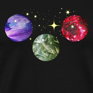 Planets Colourful Cosmic Art by patjila Débardeurs - T-shirt Premium Homme