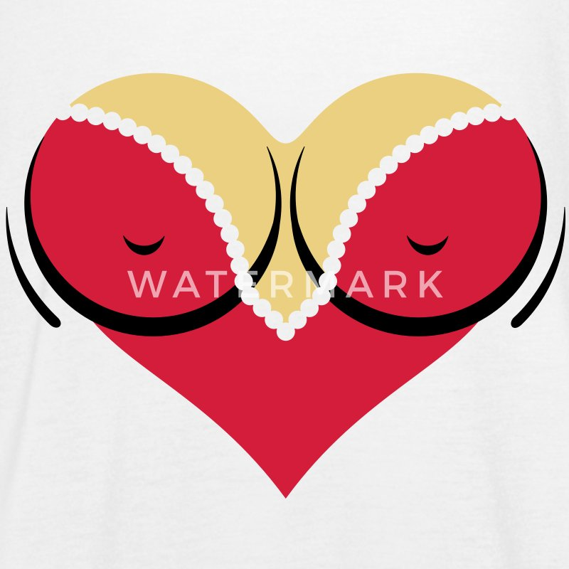 Heart-shaped woman s breasts with deep cleavage Tops - Women's Tank Top by Bella