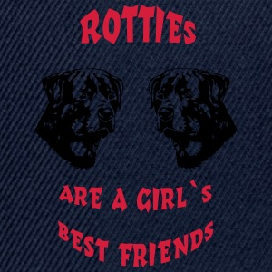 Rotties are a girl's best friends T-Shirts - Snapback Cap