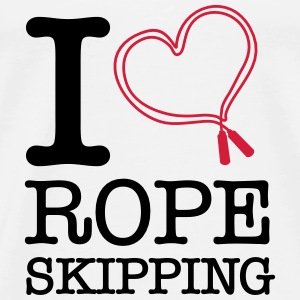 I Love Rope Skipping Bags & Backpacks - Men's Premium T-Shirt