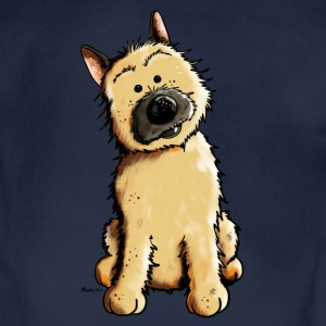 Happy Cairn Terrier Hoodies - Organic Short-sleeved Baby Bodysuit