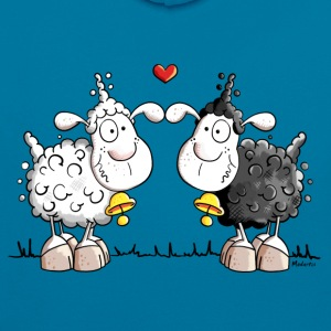Moutons dans l'amour Tee shirts - Sweat-shirt contraste