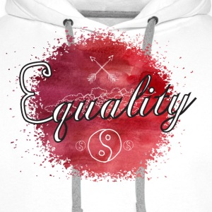 Equality - Watercolor T-Shirts - Men's Premium Hoodie