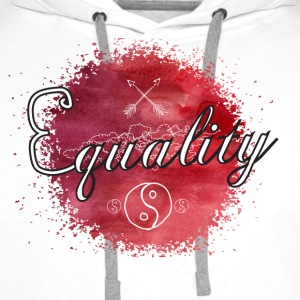 Equality - Watercolor Sportkleding - Mannen Premium hoodie