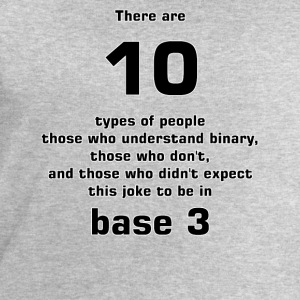 There are10 types of people base 3 T-Shirts - Men's Sweatshirt by Stanley & Stella