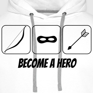 become a hero 2 T-shirts - Mannen Premium hoodie