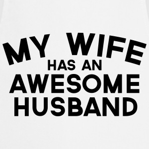 Wife Awesome Husband  T-Shirts - Cooking Apron