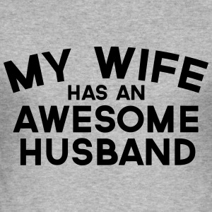 Wife Awesome Husband  Hoodies & Sweatshirts - Men's Slim Fit T-Shirt