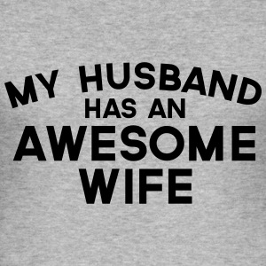 Husband Awesome Wife  Gensere - Slim Fit T-skjorte for menn