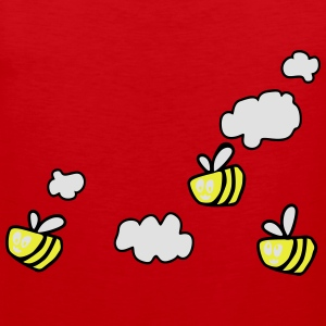 Bee in the Clouds T-shirts - Premiumtanktopp herr