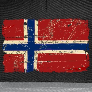 Norway Flag - Vintage Look  T-skjorter - Snapback-caps
