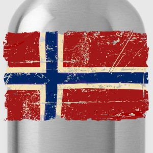 Norway Flag - Vintage Look  Long Sleeve Shirts - Water Bottle