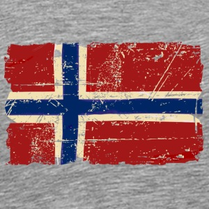 Norway Flag - Vintage Look  Long Sleeve Shirts - Men's Premium T-Shirt