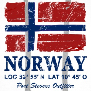 Norway Flag - Vintage Look  T-skjorter - Premium hettegenser for menn