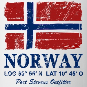 Norway Flag - Vintage Look  Long sleeve shirts - Mug