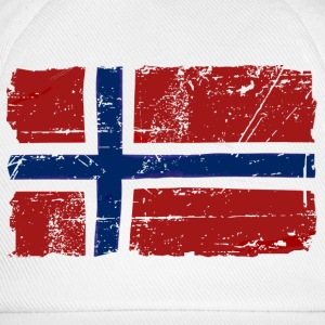 Norway Flag - Vintage Look  Intimo - Cappello con visiera
