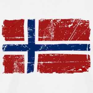 Norway Flag - Vintage Look  Sous-vêtements - T-shirt Premium Homme