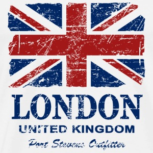Union Jack - London - Vintage Look  Skjorter med lange armer - Premium T-skjorte for menn