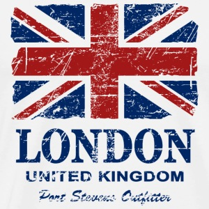Union Jack - London - Vintage Look  Tabliers - T-shirt Premium Homme